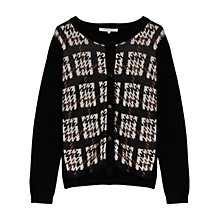 Buy Gerard Darel Agathe Jacquard Check Cardigan, Black Online at johnlewis.com
