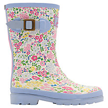Buy Little Joule Ditsy Print Wellington Boots, Cream Online at johnlewis.com