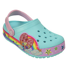 Buy Crocs Children's Crocband Rainbow Heart Clogs, Multi Online at johnlewis.com