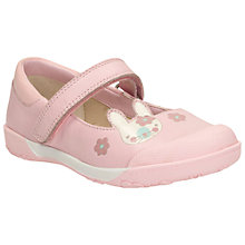 Buy Clarks Children's Nibbles Nice Rip-Tape Shoes, Baby Pink Online at johnlewis.com