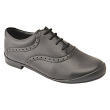 Buy Start-rite Children's Eleanor Leather Lace-Up School Shoes, Black Online at johnlewis.com