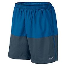 "Buy Nike 7"" Distance Shorts, Blue/Grey Online at johnlewis.com"