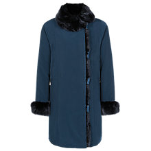 Buy Jacques Vert Faux Fur Trim Coat Online at johnlewis.com