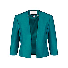 Buy Jacques Vert Petite Edge Jacket, Bright Blue Online at johnlewis.com