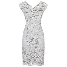 Buy Jacques Vert Petite Lace Dress, Light Grey Online at johnlewis.com