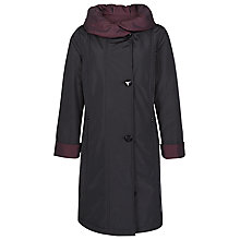 Buy Jacques Vert Reversible Ruched Collar Coat, Black/Merlot Online at johnlewis.com