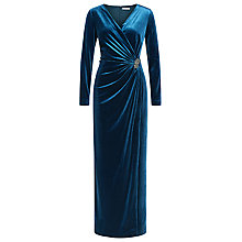 Buy Jacques Vert Velvet Maxi Dress, Mid Blue Online at johnlewis.com