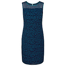 Buy Jacques Vert Petite Spot Print Layered Dress, Navy Online at johnlewis.com