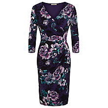 Buy Kaliko Autumnal Bloom Jersey Dress, Navy Online at johnlewis.com