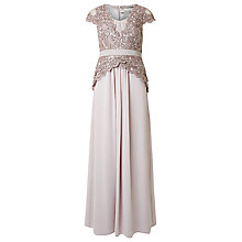Buy Precis Petite Lace Bodice Maxi Dress, Mid Netural Online at johnlewis.com