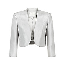 Buy Jacques Vert Petite Curved Edge Bolero, Light Grey Online at johnlewis.com