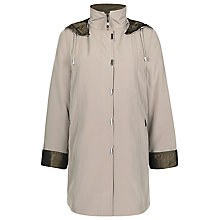 Buy Jacques Vert Funnel Neck Hooded Mac, Dark Neutral Online at johnlewis.com