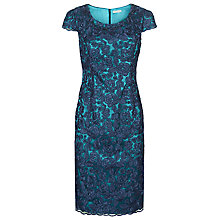 Buy Jacques Vert Petite Corded Lace Shift Dress, Blue/Azure Online at johnlewis.com