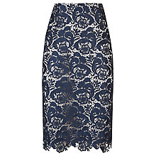 Buy Jacques Vert Lace Pencil Skirt, Navy Online at johnlewis.com
