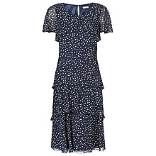 Buy Jacques Vert Tear Drop Spot Dress, Navy Online at johnlewis.com