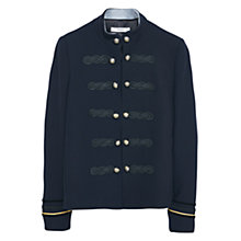 Buy Mango Military Buttoned Jacket, Navy Online at johnlewis.com