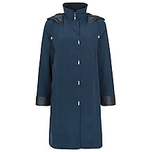 Buy Jacques Vert Funnel Neck Mac, Peacock Blue Online at johnlewis.com