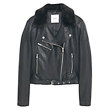 Buy Mango Aviator Zip Jacket, Black Online at johnlewis.com