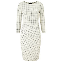 Buy Phase Eight Cynthia Check Dress, Black/Ivory Online at johnlewis.com
