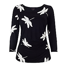 Buy Phase Eight Dragonfly Print Top, Black Online at johnlewis.com