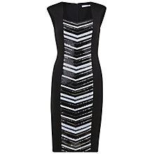 Buy Gina Bacconi Scuba Dress With Sequin Panel, Black Online at johnlewis.com