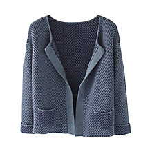 Buy Wrap London Abigail Cardigan, Denim Blue Online at johnlewis.com