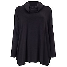 Buy Phase Eight Rhona Rollneck Jumper, Black Online at johnlewis.com