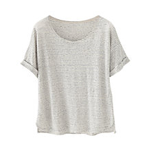 Buy Wrap London Leila T-Shirt, Ecru Online at johnlewis.com