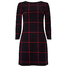 Buy Phase Eight Check Ponte Tunic Dress, Black/Red Online at johnlewis.com