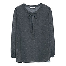 Buy Mango Polka Dot Blouse, Black/White Online at johnlewis.com