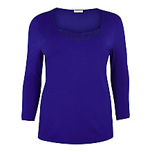 Buy Windsmoor Neckline Detail Jersey Top, Cobalt Blue Online at johnlewis.com