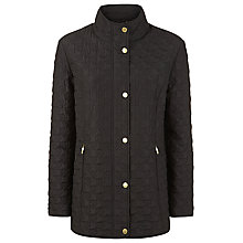 Buy Windsmoor Dogtooth Short Raincoat, Black Online at johnlewis.com