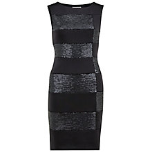 Buy Gina Bacconi Scuba And Sequin Panel Dress, Black Online at johnlewis.com