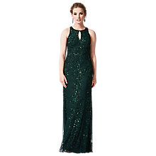 Buy Phase Eight Collection 8 Ottava Embellished Full Length Dress, Emerald Online at johnlewis.com