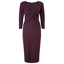 Buy Phase Eight Mandy Midi Dress, Claret Online at johnlewis.com