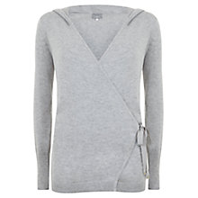Buy Mint Velvet Hooded Wrap Jumper, Grey Online at johnlewis.com