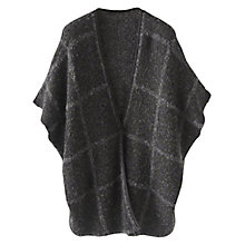 Buy Wrap London Evelyn Cape Cardigan, Charcoal Online at johnlewis.com