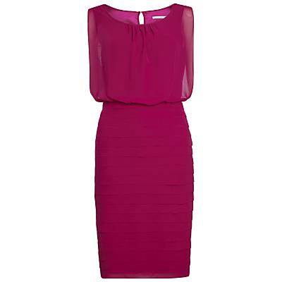 Gina Bacconi Chiffon Layered Dress, Jazzberry