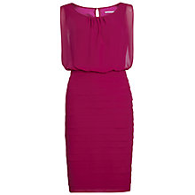Buy Gina Bacconi Chiffon Layered Dress, Jazzberry Online at johnlewis.com
