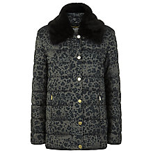 Buy Windsmoor Animal Print Padded Coat, Black/Multi Online at johnlewis.com