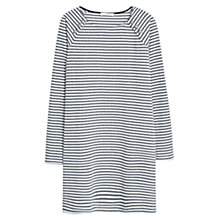 Buy Mango Striped Cotton Dress, Natural White Online at johnlewis.com