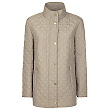 Buy Windsmoor Quilted Dogtooth Raincoat, Oyster Online at johnlewis.com