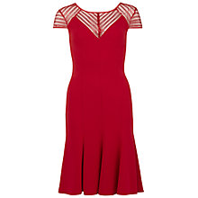Buy Gina Bacconi Flared Dress With Sequin Yoke, Red Online at johnlewis.com