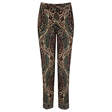 Buy Oasis Paisley Border Crepe Trousers, Multi Online at johnlewis.com