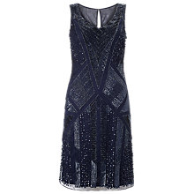 Buy Phase Eight Collection 8 Embellished Aida Dress, Navy Online at johnlewis.com