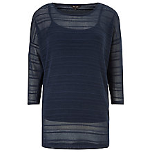 Buy Phase Eight Sydney Stripe Top, Navy Online at johnlewis.com