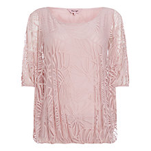 Buy Phase Eight Cecily Burnout Top,  Pink Online at johnlewis.com