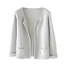 Buy Wrap London Abigail Cardigan, Silver Grey Online at johnlewis.com
