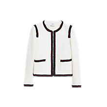 Buy Mango Trim Tweed Jacket, Light Beige/Multi Online at johnlewis.com
