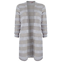 Buy Phase Eight Chloe Self Stripe Cardigan, Silver Online at johnlewis.com
